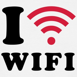 I heart WIFI T-shirts - Herre-T-shirt