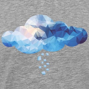 Cloud (Polygon Style) T-skjorter - Premium T-skjorte for menn