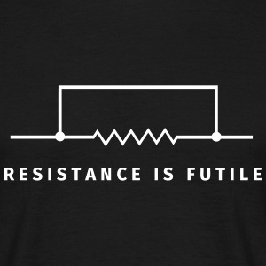 Resistance is futile T-shirts - Herre-T-shirt