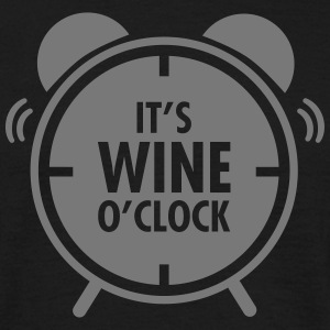 It\'s Wine O\'Clock T-shirts - Mannen T-shirt