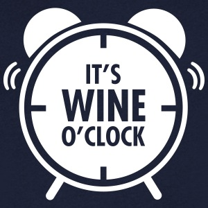 It\'s Wine O\'Clock T-skjorter - T-skjorte med V-utsnitt for menn