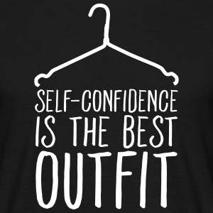 Self-Confidence Is The Best Outfit T-shirts - T-shirt herr