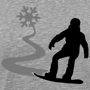 Snowboarder with snowflake T-Shirts - Men's Premium T-Shirt