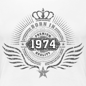 born_in_1974 T-Shirts - Frauen Premium T-Shirt