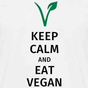 keep calm and eat vegan T-skjorter - T-skjorte for menn