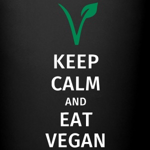 keep calm and eat vegan Tazas y accesorios - Taza de un color