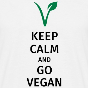 keep calm and go vegan Tee shirts - T-shirt Homme