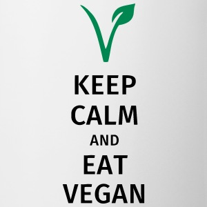 keep calm and eat vegan Tazas y accesorios - Taza