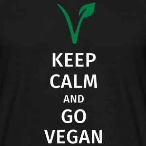 keep calm and go vegan Koszulki - Koszulka męska