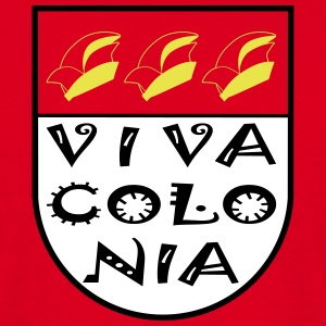 Wappen Viva Colonia ohne rot T-shirts - Mannen T-shirt
