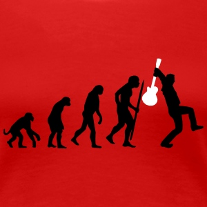 Evolution of rock def T-skjorter - Premium T-skjorte for kvinner