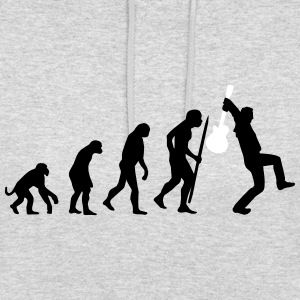 Evolution of rock def Gensere - Unisex-hettegenser
