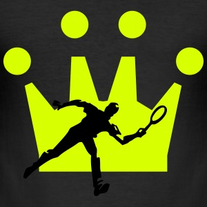 Tennis Krone - Männer Slim Fit T-Shirt