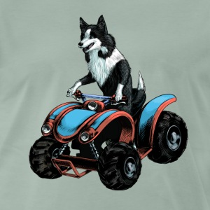 SheepDog on Quadbike T-Shirts - Men's Premium T-Shirt