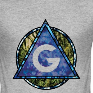 Grime Apparel Geo Print. - Men's Slim Fit T-Shirt