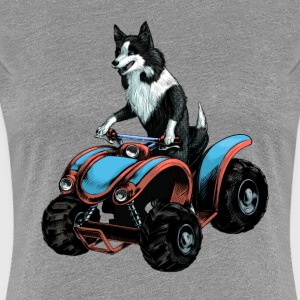 SheepDog on Quadbike T-Shirts - Women's Premium T-Shirt