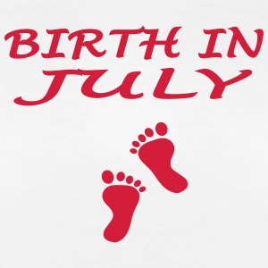 Birth in july T-shirts - Dame premium T-shirt