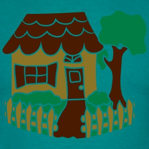 pretty little cottage house build eigenheim black  T-Shirts - Men's T-Shirt