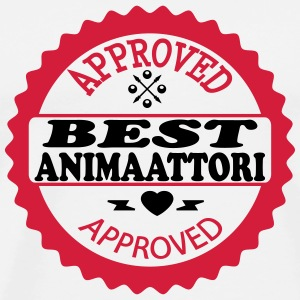 Approved best animaattori T-shirts - Premium-T-shirt herr