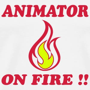 Animator on fire !! T-shirts - Premium-T-shirt herr