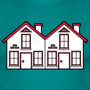 Semi-detached 2 houses neighborhood neighbors pret T-Shirts - Men's T-Shirt