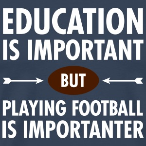 Education - Playing Football T-Shirts - Men's Premium T-Shirt