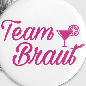 Team Braut - Bridal Shower - JGA Buttons & Anstecker - Buttons mittel 32 mm