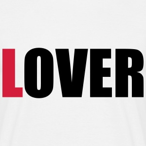 lOVER (OneWordPoetry) T-Shirts - Men's T-Shirt