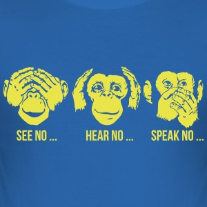 See Hear Speak No Evil 3C T-shirts - Slim Fit T-shirt herr