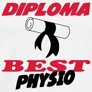 Diploma best physio Tee shirts - T-shirt Premium Homme