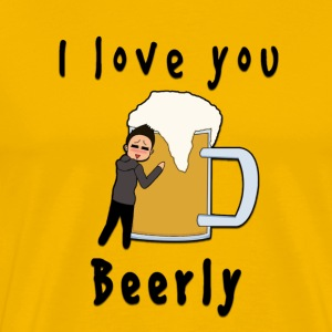 I-love-you-beerly T-Shirts - Männer Premium T-Shirt