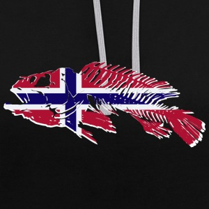 Norway Fishing Pullover & Hoodies - Kontrast-Hoodie