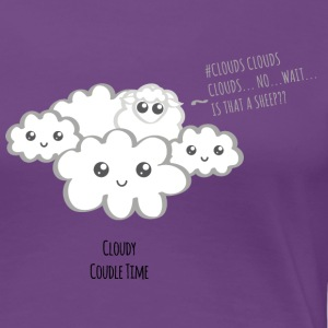 Cloudy Kawaii - Frauen Premium T-Shirt