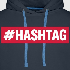 Hashtag Sweat-shirts - Sweat-shirt à capuche Premium pour hommes