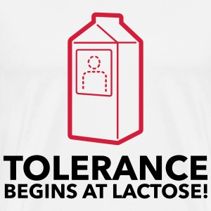 Tolerance begins with lactose! T-Shirts - Men's Premium T-Shirt