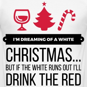 I m dreaming of a white Christmas T-Shirts - Men's Slim Fit T-Shirt
