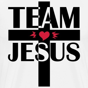 Team Jesus Christus Cross Kreuzritter Love Bibel - Männer Premium T-Shirt