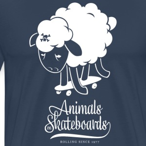 Animals on Skateboards/Sheep T-Shirts - Männer Premium T-Shirt