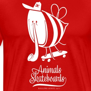 Animals on Skateboards/Fly T-Shirts - Männer Premium T-Shirt