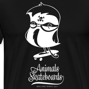 Animals on Skateboards/Chickadee T-Shirts - Männer Premium T-Shirt