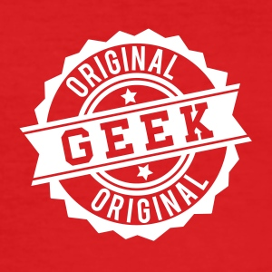 Geek original stamp T-Shirts - Men's Slim Fit T-Shirt