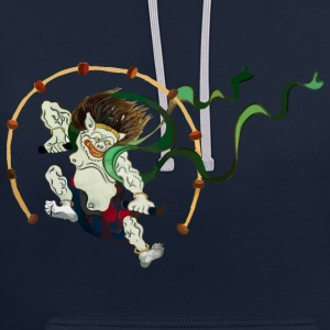 Raijin - God of Thunder Hoodies & Sweatshirts - Contrast Colour Hoodie