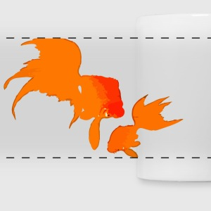 Japanese Gold Fishes Mugs & Drinkware - Panoramic Mug