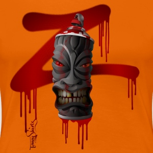 SPRAY-A-TIKI (dd_z01-red) T-Shirts - Frauen Premium T-Shirt