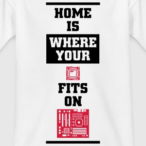 Home is where your CPU on the motherboard fits Shirts - Teenage T-shirt