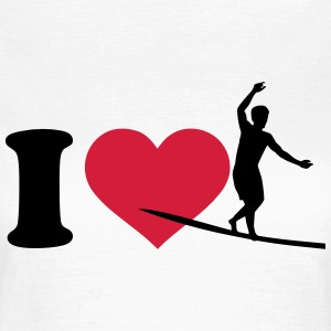 I love Slackline T-Shirts - Frauen T-Shirt