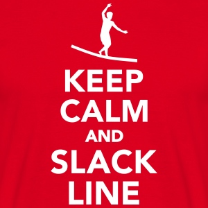Keep calm and Slackline T-Shirts - Männer T-Shirt