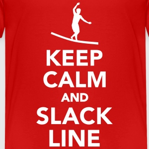 Keep calm and Slackline T-Shirts - Kinder Premium T-Shirt