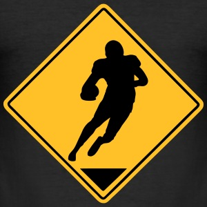 Football Road Sign T-Shirts - Männer Slim Fit T-Shirt