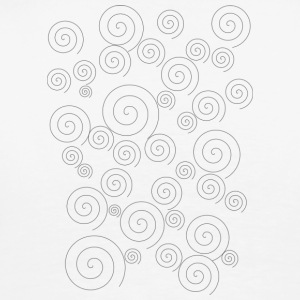 Sleek simple swirls - Men's Premium T-Shirt